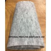 Grey Pre-filter Sheets 1m x .5m